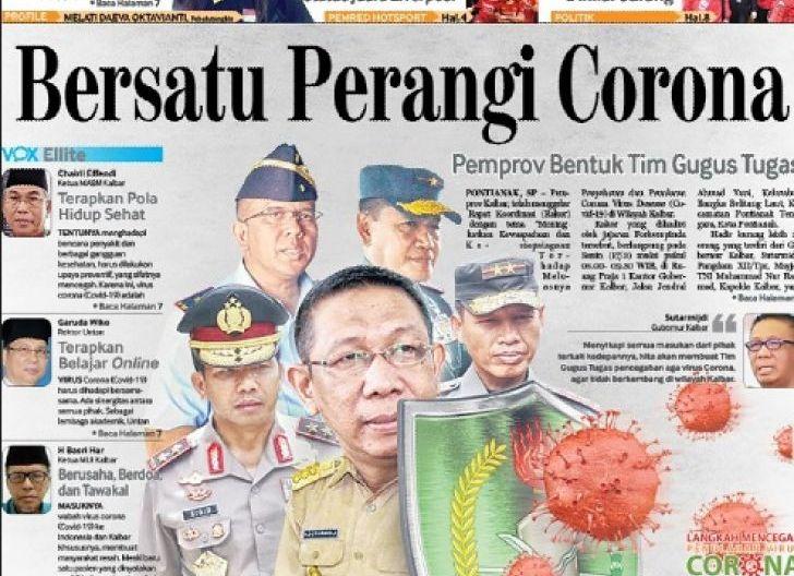 Photo of Gubernur Kalbar Keluarkan Surat Edaran Terkait Penyebaran Virus Corona, Minta Pimpinan Daerah Tanggap Kondisi