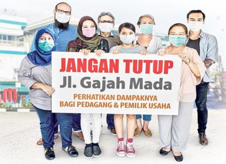 Photo of Gajah Mada Di-Lockdown, Pedagang: Pemkot Tak Pernah Sosialisasi