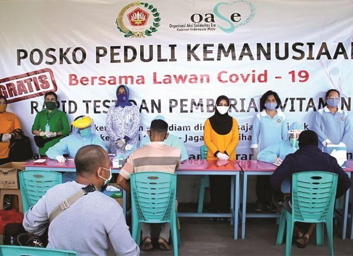 Photo of Peduli Kemanusiaan Dharma Pertiwi Daerah L Gelar Rapid Test Gratis