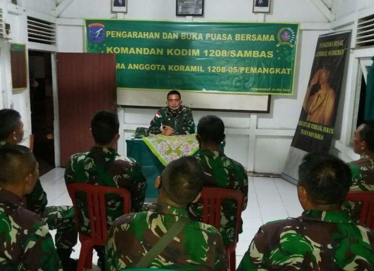 Photo of Dandim 1208/Sbs Motivasi Koramil Pemangkat