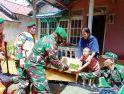 Bantu Korban Banjir Melawi, Danrem 121/ABW Salurkan Ratusan Paket Sembako