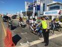 Satlantas Polres-Dishub Sanggau Buat RHK di Traffic Light Jalan Jenderal Sudirman