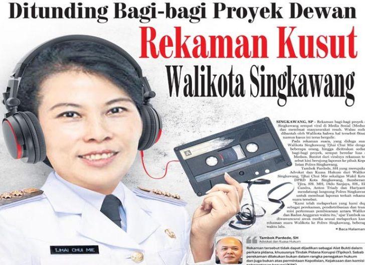 Photo of Rekaman Kusut Walikota Singkawang, Dituding Bagi-bagi Proyek Dewan
