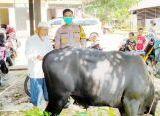 Photo of Tebar Hewan Kurban Lintas Kecamatan, 750 Paket Kurban Dibagikan