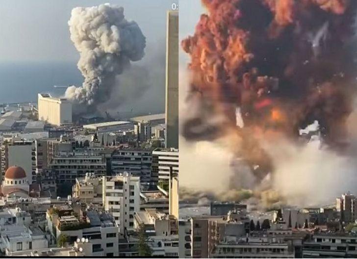 Photo of Ledakan Dahsyat di Lebanon, dari Asap Oranye hingga Berbentuk Jamur