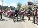 Tour de Entikong Sambut HUT ke-75 Kemerdekaan RI, Danrem 121/Abw Pimpin Gowes 75 Km