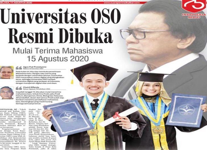 Photo of Universitas OSO Resmi Dibuka, Mulai Terima Mahasiswa Baru pada 15 Agustus 2020