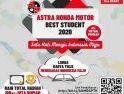 Masa Pendaftaran Diperpanjang hingga 25 September, Astra Honda Motor Best Student 2020