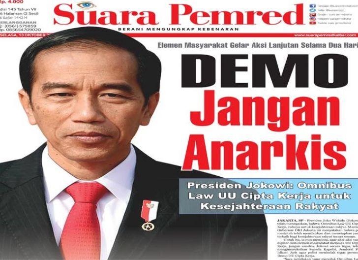 Photo of Elemen Masyarakat Gelar Aksi Lanjutan Selama Dua Hari, Jokowi : Demo Jangan Anarkis