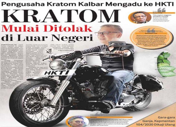 Photo of Kratom Mulai Ditolak di Luar Negeri, Pengusaha Kratom Kalbar Mengadu ke HKTI