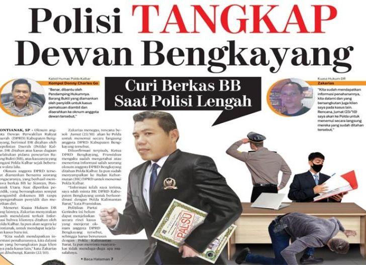 Photo of Polisi Tangkap Dewan Bengkayang, Curi Berkas BB Saat Polisi Lengah