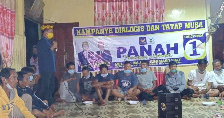 Dampingi PANAH, Widya Hastuti dan Hamka Kampanye di Menukung