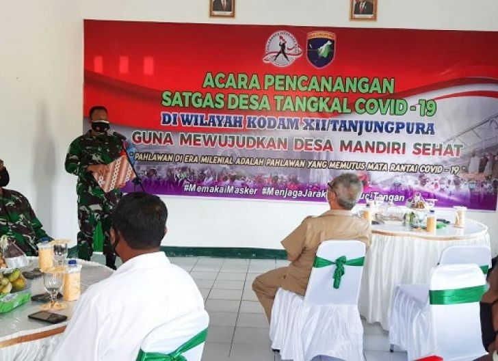 Photo of Dandim 1012/Buntok, Canangkan Satgas Desa Tangkal Covid-19