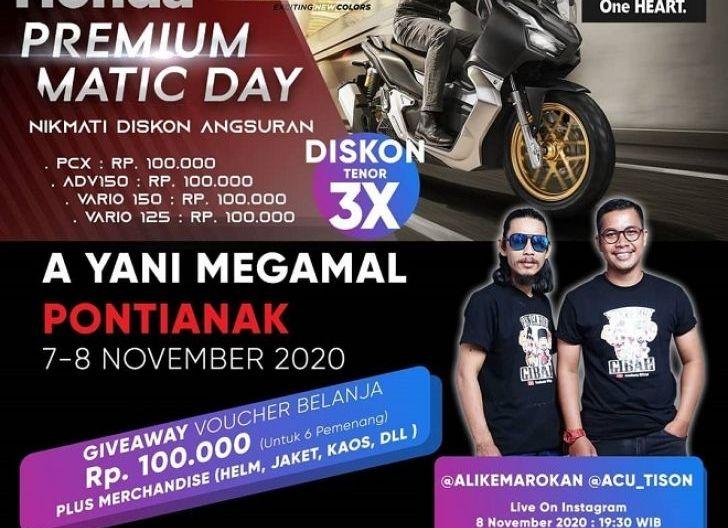 Photo of Honda Premium Matic Day Berikan Astra Motor Kalbar BerikanPromo Terbaik