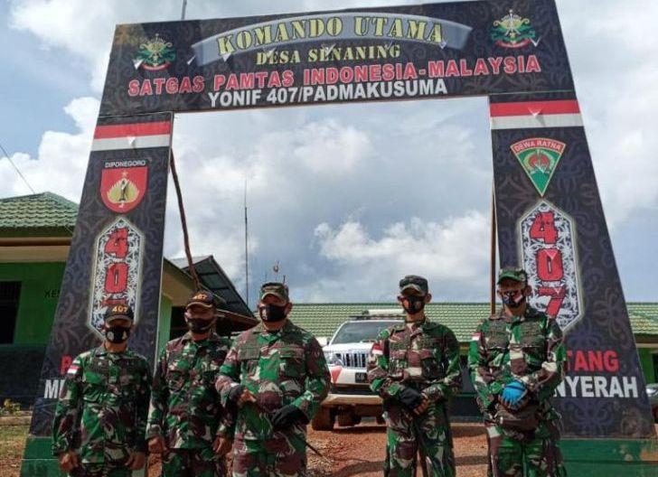 Photo of Danrem 121/Abw Kunjungi pos Kout 407/Padmakusuma Senaning