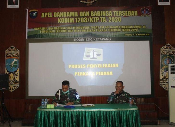 Photo of Tingkatkan Profesionalitas Prajurit, Kodim 1203/Ktp Gelar Apel Danramil dan Babinsa Tersebar Tahun 2020