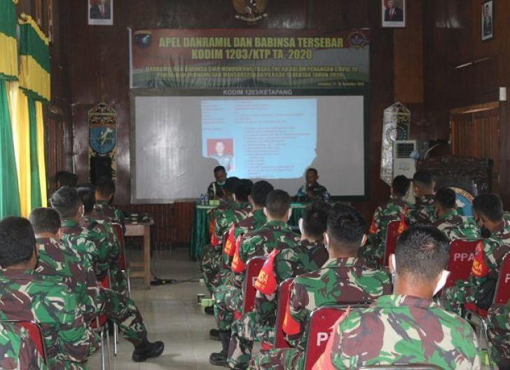 Photo of Dukung Tugas TNI AD dalam Penanganan Covid-19, Danramil dan Babinsa Kodim 1203/Ktp Ikuti Apel Tersebar