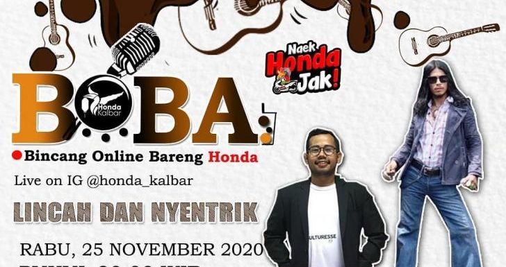 BOBA Live IG@Honda_Kalbar Angkat Tema Lincah dan Nyentrik, Hadirkan Ali Akbar Sang Penyanyi Kalbar