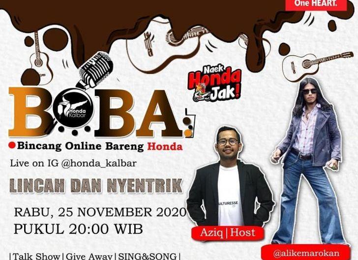 Photo of BOBA Live IG@Honda_Kalbar Angkat Tema Lincah dan Nyentrik, Hadirkan Ali Akbar Sang Penyanyi Kalbar