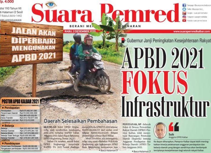 Photo of APBD 2021 Fokus Infrastruktur, Gubernur Janji Peningkatan Kesejahteraan Rakyat