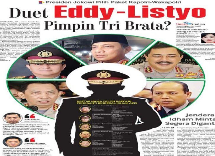Photo of Duet Eddy-Listyo Pimpin Tri Brata? Presiden Jokowi Pilih Paket Kapolri-Wakapolri