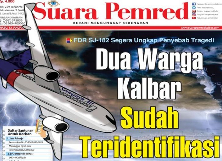 Photo of Dua Warga Kalbar Sudah Teridentifikasi, FDR SJ-182 Segera Ungkap Penyebab Tragedi