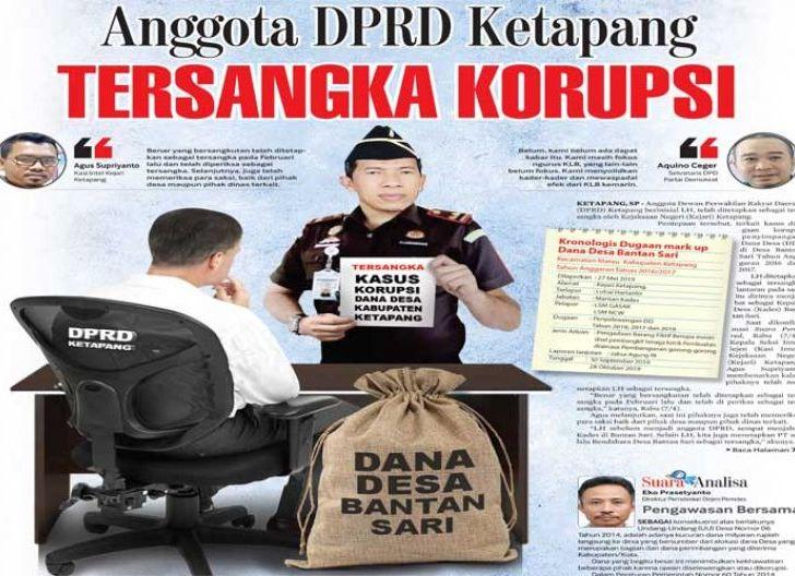 Photo of Anggota DPRD Ketapang Tersangka Korupsi, Mark Up Dana Desa Saat Menjabat Kades Bantan Sari