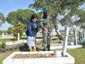 Sambut HUT Ke-75 TNI AU, Danlanud Supadio Pimpin Ziarah Rombongan di TMP Dharma Patria Jaya