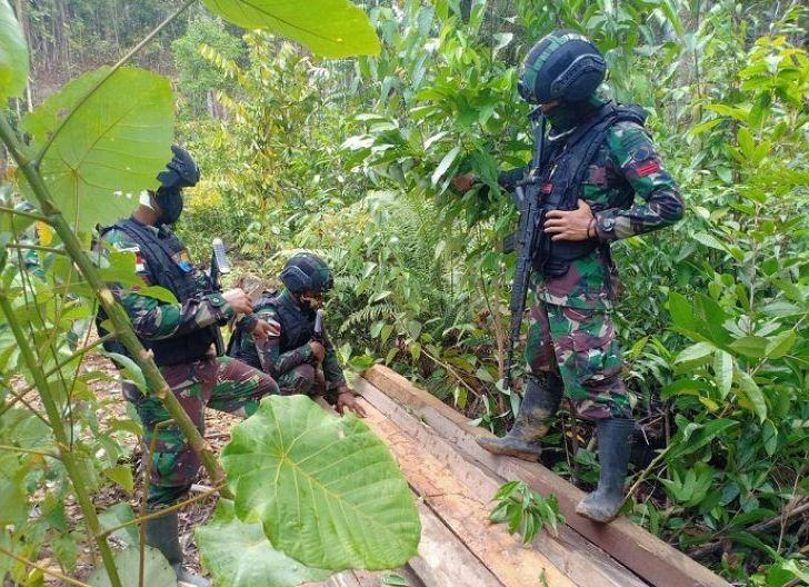 Photo of Patroli Batas Negara hingga ke Hutan Lindung, Satgas Yonif 407/PK Temukan Katu Olahan Hasil Ilegal Loging