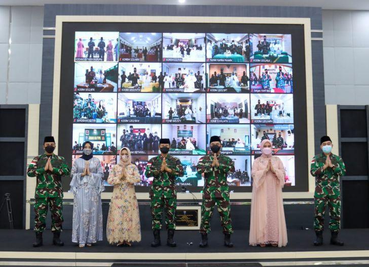 Photo of Pelihara Silaturahmi, Kodam XII/Tpr Gelar Halal bi Halal Secara Virtual