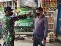Koramil Sekadau Hulu Sosialisasi 3M dan Bagikan Masker