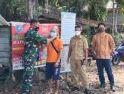 Babinsa Nanga Taman Sosialisasi Bahaya Covid-19