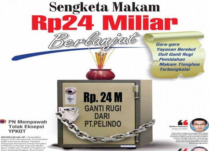 Photo of Sengketa Makam Rp24 Miliar Berlanjut, PN Mempawah Tolak Eksepsi YPKOT
