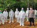 Polsek Gencar Sosialisasi Prokes, Anggota Terlibat Pemakaman Warga Terpapar Covid-19