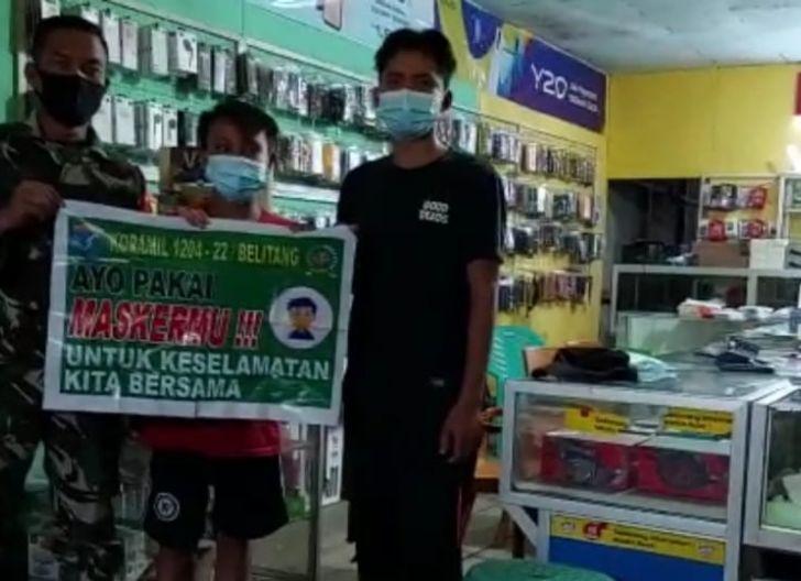Photo of Babinsa Belitang Mensosialisasikan 5M