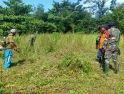 Bersihkan Makam Desa, Babinsa Sui Raya Ajak Warga