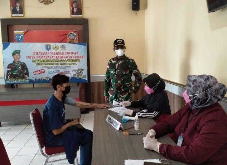 Photo of Kodim 1204/Sanggau Laksanakan Serbuan Vaksin Covid-19