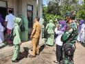 Pasiter Kodim 1207/Pontianak Dampingi Ketua Persit KCK Cabang LI Kampanye Stunting