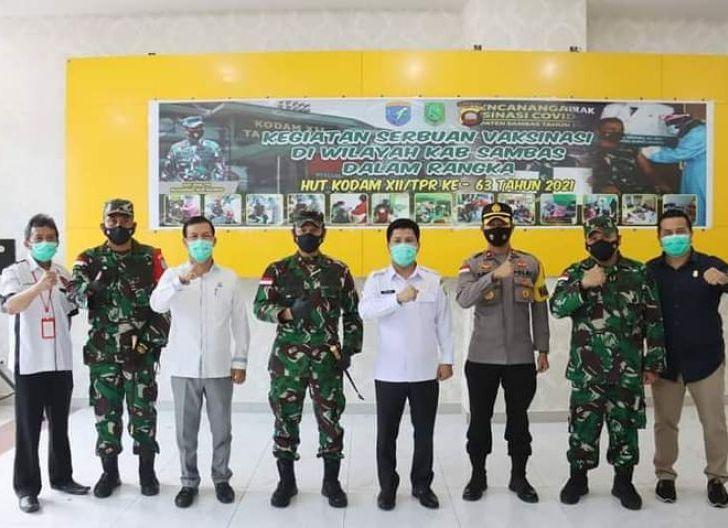 Photo of Pangdam XII/Tpr Pantau Langsung Serbuan Vaksinasi Covid-19 di Sambas