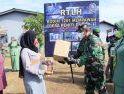 Danrem 121/Abw Serahkan Kunci RTLH dan Resmikan Perubahan Nama Koramil Jungkat