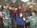 Dandim 1203/Ktp Dampingi Pangdam XII/Tpr Tinjau Serbuan Vaksinasi di Kayong Utara