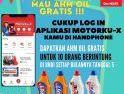 Gunakan Apilkasi Motorku X, Dapatkan AHM Oil Gratis