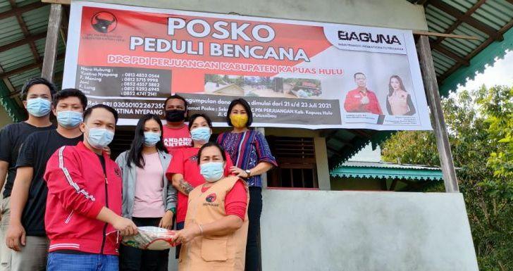 Baguna PDIP Salurkan Bantuan untuk Korban Banjir Kapuas Hulu