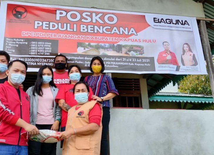 Photo of Baguna PDIP Salurkan Bantuan untuk Korban Banjir Kapuas Hulu