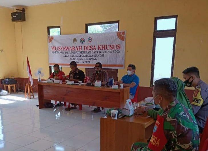 Photo of Babinsa Koramil Sandai Hadiri Musdes Penetapan Hasil Pendataan SDGs Desa Istana