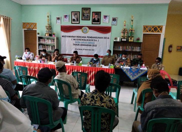 Photo of Untuk Kemajuan Desa Binaan, Babinsa Desa Arus Deras Hadiri Rapat Musrenbangdes