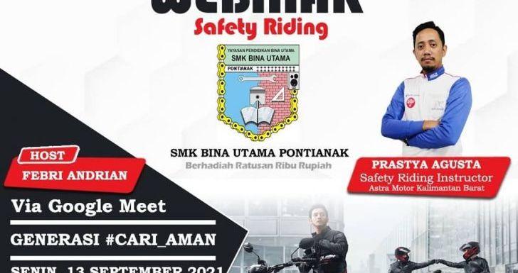 Safety Riding Astra Motor Kalbar Ajarkan jadi Generasi Cari Aman Bersama Siswa SMK Bina Utama