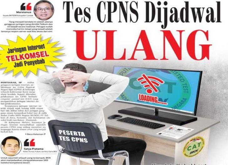Photo of Tes CPNS Dijadwal Ulang, Jaringan Internet Telkom Jadi Penyebab