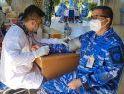 Lanud Had Gelar Donor Darah Dalam Rangka HUT TNI ke-76
