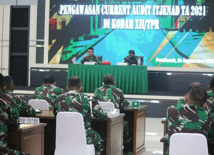 Photo of Pangdam XII/Tpr Terima Taklimat Akhir Wasrik Current Audit Itjenad TA 2021